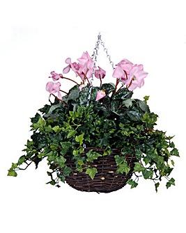 Artificial Plant Cyclamen Basket