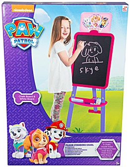 Paw Patrol Girls Double Side Floor Easel
