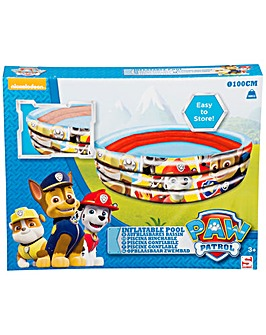 Paw Patrol 3 Ring Boys Inflatable Pool