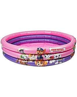 Paw Patrol 3 Ring Girls Inflatable Pool