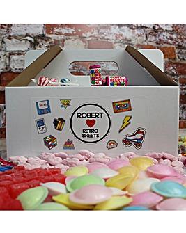 Personalised Retro Sweet Box - Large