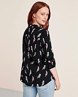 Violeta By Mango Bird Print Shirt