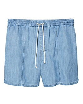 Violeta By Mango Tencel Shorts