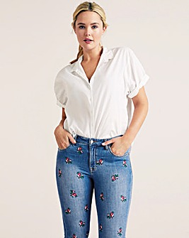 Violeta By Mango Embroidered Jeans