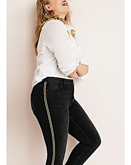Violeta By Mango Side Stripe Jeans