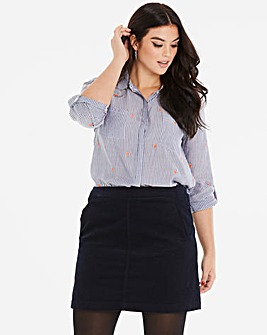 Oasis Curve Pocket Cord Skirt