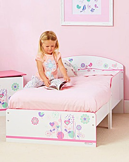 Flowers and Birdies Toddler Bed