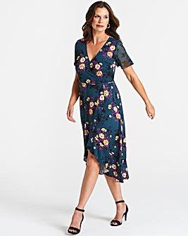 Oasis Curve Freida Wrap Dress