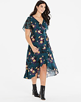 Oasis Curve Freida Wrap Dress
