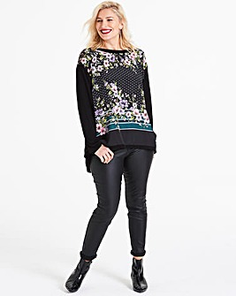 Oasis Freida Woven Front Jumper