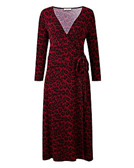Oasis Curve Jersey Animal Wrap Dress