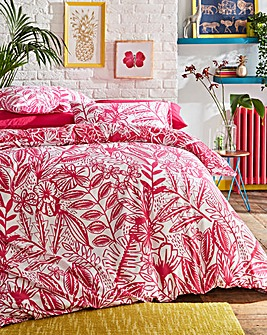 Plaza Fuchsia Duvet Cover Set
