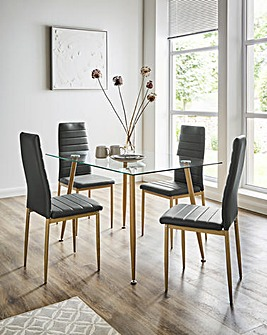 Jamie Dining Table and 4 Chairs