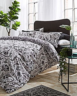 Clara Damask Duvet Cover Set