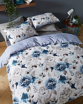 Cordelia Blue Floral Duvet Cover Set