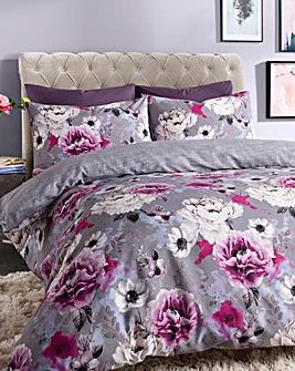 Cordelia Grey Floral Duvet Cover Set