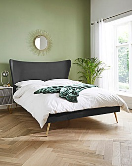 Markle Velvet Bed Frame with Quilted Mattress