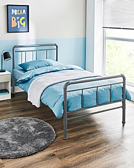 Bowen Metal Frame Bed with Quilted Mattress