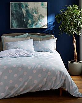 Duck Egg Polka Dot Duvet Cover Set