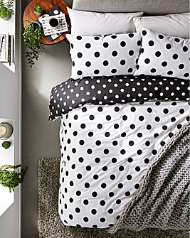 Black & White Polka Dot Duvet Cover Set