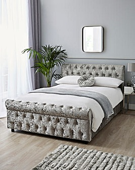 Kingston Crushed Velvet Bed Frame with 2 Storage Drawers