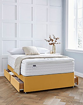 Silentnight Superior 2000 Memory Pillowtop Velvet Divanset with 4 Drawers