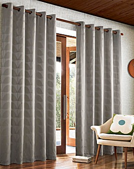 Orla Kiely Jacquard Stem Eyelet Curtains