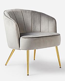 Esme Velvet Accent Chair