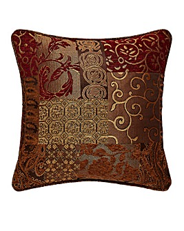 Casablanca Patchwork Jacquard Cushion