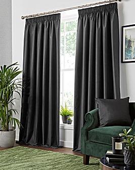 Faux Silk Pencil Pleat Blackout Curtains