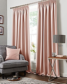 Faux Silk Pencil Pleat Blackout Curtains