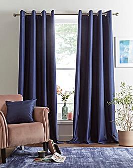 Faux Silk Eyelet Blackout Curtains