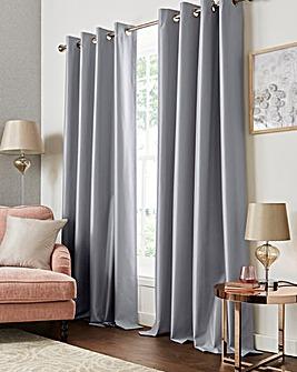 Faux Silk Eyelet Blackout Thermal Curtains
