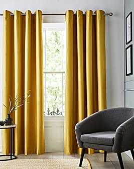 Faux Silk Eyelet Blackout Curtains