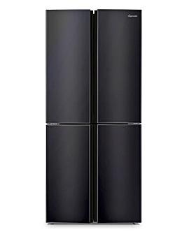 Fridgemaster MQ79394FFB American Fridge Freezer - Black