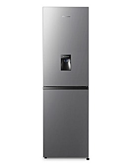 Fridgemaster MC55240MDFS Fridge Freezer with Water Dispenser - Silver