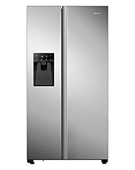 Hisense RS694N4TCF American Fridge Freezer - Stainless Steel