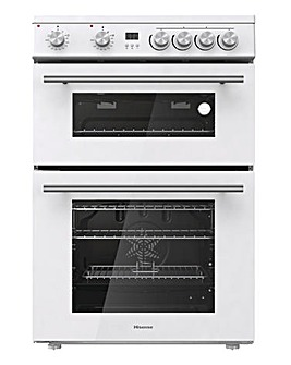 Hisense HDE3211BWUK Freestanding Electric Cooker - White