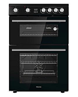 Hisense HDE3211BBUK Freestanding Electric Cooker - Black