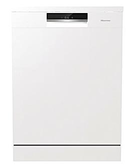 Hisense HS661C60WUK Freestanding 16-place Full-Size Dishwasher - White