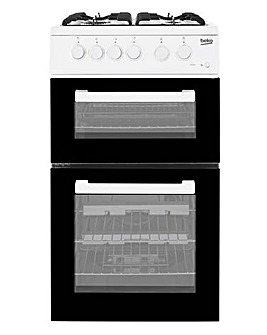 Beko KDG581W Freestanding Gas Cooker with Gas Grill - White