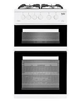 Beko KDVG592W Freestanding Gas Cooker - White