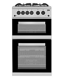 Beko KDVG592S Freestanding Gas Cooker - Silver
