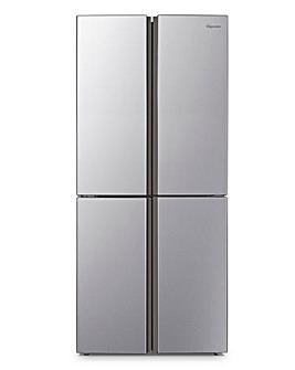 Fridgemaster MQ79394FFS American Fridge Freezer - Silver