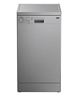 Beko DFS05020S Freestanding 10 Place Slimline Dishwasher - Silver