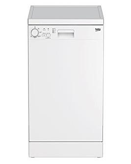 Beko DFS05020W Freestanding 10 Place Slimline Dishwasher - White
