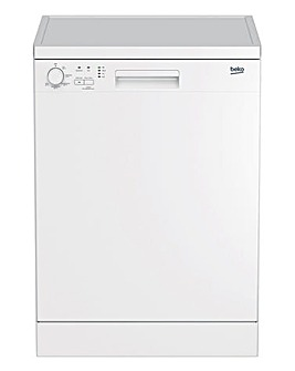 Beko DFN05320W Freestanding 13 Place Full-Size Dishwasher - White
