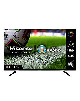 Hisense QLED 55E76GQTUK 55 4K UHD HDR SMART TV with Alexa & Google Assistant