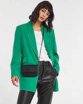 Green Oversized Blazer with Asymmetric Cuffs
