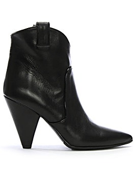 Daniel Ideal Leather Western Ankle Boots